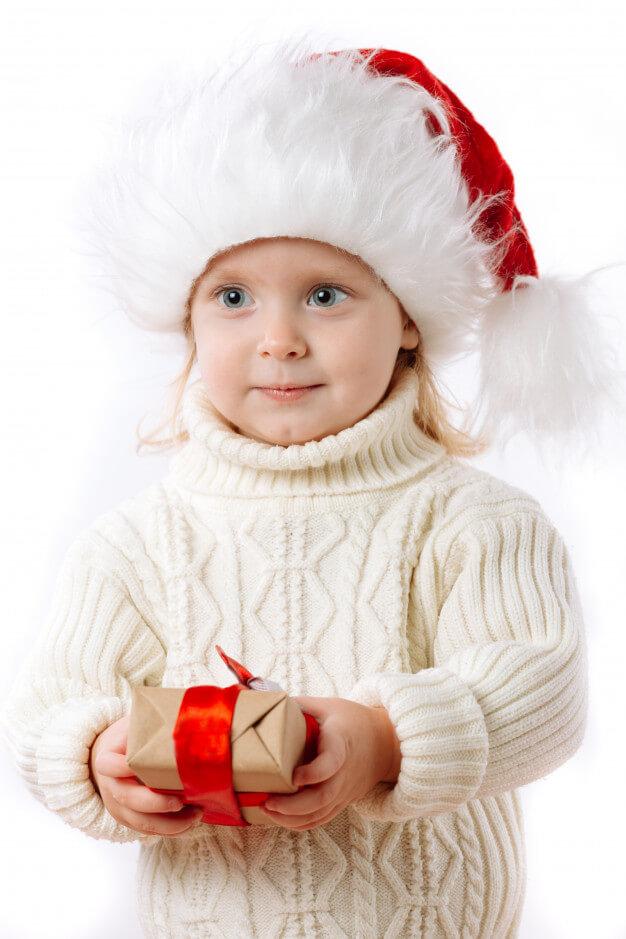 Dieťa s darčekom